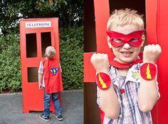 cardboard phone booth can be done small for toys too I want to do a blue box too.