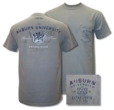 Auburn University Beanie Tiger Pocket - Granite Comfort Colors
