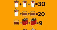 Resposta do Desafio dos lanches -  Quanto vale o refrigerante, hambúrguer e a batata? Fun Mind Games, Bart Simpson, Math Lessons, Soft Drink, Potato, Box Lunches