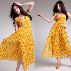 Sexy Women Deep V Neck Beach Boho Maxi Floral Long Sun Dress Skirt Size s M L   eBay