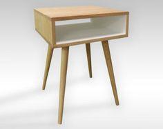 Modern Walnut Side Table / Night Stand Set door FlintAlleyFurniture