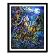 Wall Decor Crafts, Fantasy Forest, Crafts With Pictures, 5d Diamond Painting, Cross Paintings, Diamond Art, Embroidery Kits, Cross Stitch, Mermaid