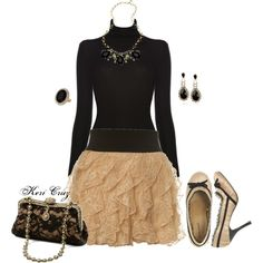 Adorable Holiday Skirt!, created by keri-cruz on Polyvore