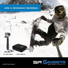 Win this week's giveaway! Just like this post and tag a friend for a chance to win a POV Pole and a POV Case! Winner will be announced at the end of the week. Good luck! #spgadgets #giveaways #addmorefunction #win #povpole #povcase #snowboarding #device #iphone #phones