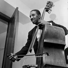 """""""Jazz is a complete lifestyle, something that you feel, something that you live."""" - Ray Brown Double bassist and cellist Ray Brown backstage at the Civic Opera House in Chicago. Brown played with everyone from Charlie Parker. Jazz Artists, Jazz Musicians, Art Tatum, Ron Carter, Diana Krall, Dizzy Gillespie, Duke Ellington, Ella Fitzgerald, Double Bass"""