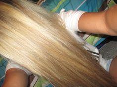perfect straight blonde hair