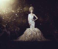 "Wedding dress from my collection""Breath of night"" Visit my website to see more www.hayaalhouti.net"