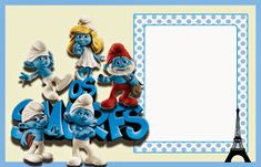 The Smurfs Free: Printable Invitations or Photo Frames. Free Printable Invitations, Free Printables, Blogger Templates, Crafty Craft, Birthday Invitations, First Birthdays, Birthday Parties, Birthday Ideas, Card Making