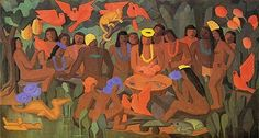 Tarsila do Amaral (Brazilian, 1886-1973) - Baptism of Macunaima, 1956