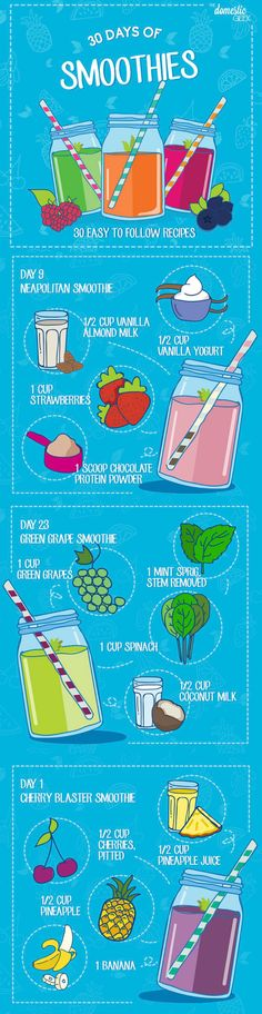 How awesome is this 30 days of smoothies!! Can't wait to start! #smoothies #challenge #health #food #ad #planner #recipes
