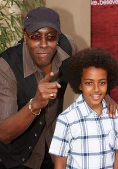 Arsenio with his son.