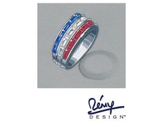 """Remy Rotenier For Bella Luce (R) 3.16ctw Multigem Simulant Rhodium Over Sterling """"independence"""" Ring"""