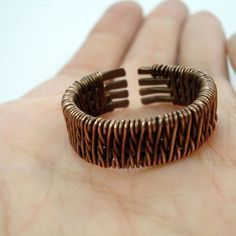 Ring for men, wire weaving ring, wire weaving jewelry, copper ring, wire…