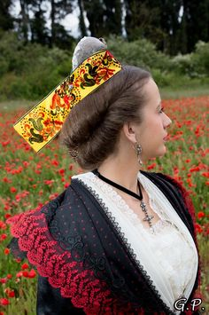 Provence, French Costume, Costumes Around The World, French Countryside, Folk Costume, Normandy, Folklore, Captain Hat, Crochet Earrings
