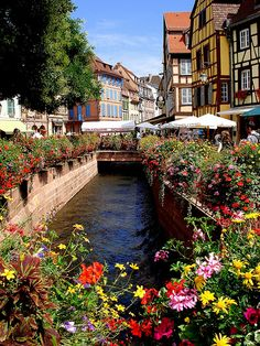 Colmar, France.. the style of this town reminds me of Beauty and the Beast.