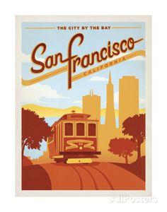 San Francisco, California: The City By The Bay Kunstdruck