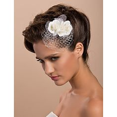 Women's Tulle Headpiece - Wedding/Special Occasion/Casual/Outdoor Fascinators/Flowers – USD $ 4.99