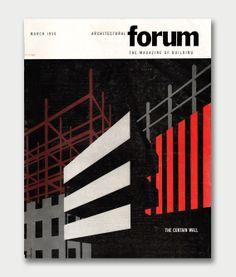 Architectural forum, March 1950. Cover design by Amnon Rubenstein.