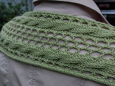 Free Pattern: Reversible Eyelet Cable Scarf by Cheryl Beckerich.  Uses fingering weight yarn ... lovely.