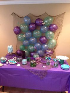 Dessert table at a mermaid party