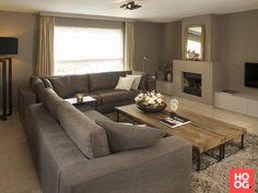 Moderne woonkamer met luxe zitbank