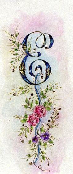 I thought this was pretty and it's the letter that begins my last name.