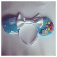 Items similar to Disney UP Mickey Mouse ears on Etsy ❤ liked on Polyvore featuring accessories