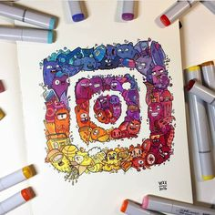 """39.7k Likes, 58 Comments - Artistic Network (@artistic_exposure_) on Instagram: """"Awesome Instagram logo By @vexx_art . . Follow us @artistic_exposure_ !! . Shared by…"""""""