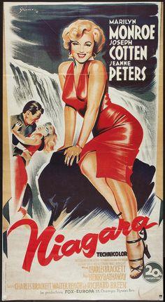 Movie Posters:Film Noir, Niagara (20th Century Fox, R-1980s). French Grande... Image #1