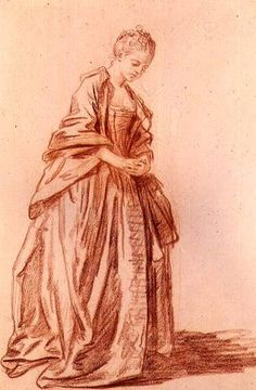 Titre de l'image : Jean Baptiste Greuze - Draped female figure
