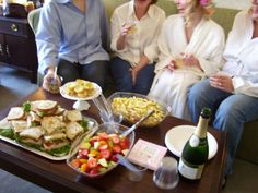 Wedding Day Lunch/Snacks are IMPORTANT!! - served in hotel suite while bride & maids are getting ready