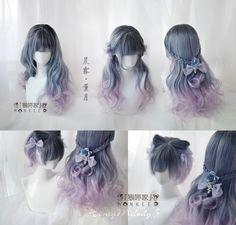 尾款-「猴咩家」独家HM系列-晨雾少女款·薰月|65CM雾卷|-假发-淘宝网全球站 Kawaii Hairstyles, Pretty Hairstyles, Wig Hairstyles, Manga Hair, Anime Hair, Wig Styles, Curly Hair Styles, Kawaii Wigs, Lolita Hair