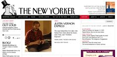 Vintage newspaper inspired web site design: www.newyorker.com