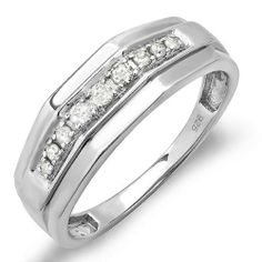 0.25 Carat (ctw) Sterling Silver Round White Real Diamond Mens Wedding Anniversary Band 1/4 CT DazzlingRock Collection. $99.00. 925-Sterling Sterling-Silver. Has a stunning 0.25 ct. Round Diamonds.. Weighs approximately 3.95 grams. Diamond Color / Clarity : I-J / I2-I3. Just the perfect Band for that perfect couple.. Save 71% Off!