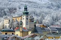 Slovakia, Bratislava, church in winter landscape