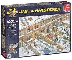 Jumbo Jan Van Haasteren Christmas Eve Jigsaw Puzzle Piece) ** Check this awesome product by going to the link at the image. (This is an affiliate link) Christmas Jigsaw Puzzles, Christmas Puzzle, 2000 Piece Puzzle, 1000 Piece Jigsaw Puzzles, Christmas Humor, Christmas Eve, Hogwarts, Cartoon Puzzle, House