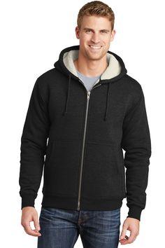 69e0e479458 CornerStone CS625 - Heavyweight Sherpa-Lined Hooded Fleece Jacket