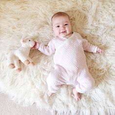 A morning of belly laughs, nursing and snuggles with little Vivian! Thanks @rubyandpeach for sharing! #burtsbeesbaby #fanphoto #babyootd