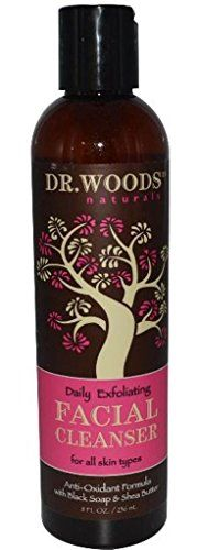 exfoliating scrub Dr. Woods Shea Facial Cleanser with Black Soap, 8 Ounce >>> Check out @ http://www.amazon.com/gp/product/B003B2FMMK/?tag=skincareandbe-20&pno=170716051602