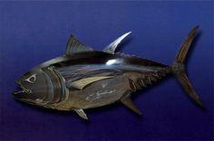 Big Eye Tuna by AHRtsMetalArt on Etsy