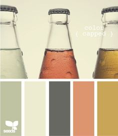 Design Seeds, Another potential whole-house color scheme. Maybe add in a navy and use the coral and mustard as accents, or for small rooms/hallways