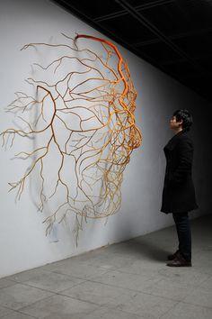 """way to happiness II Sculpture Saatchi Online Artist: Sun-Hyuk Kim; Metal, Sculpture """"The way to happiness II""""Saatchi Online Artist: Sun-Hyuk Kim; Metal, Sculpture """"The way to happiness II"""" Instalation Art, Sculpture Metal, Human Sculpture, Abstract Sculpture, Wall Sculptures, Abstract Art, 3d Art, Pics Art, Art Plastique"""