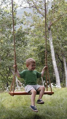 Justin's project for tomorrow! classic cedar tree swing