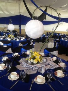 Centros de mesa en sombras de papel blanco!!!