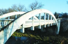 This 2011 photo shows the Marsh Rainbow Arch Bridge that crosses Duncan Creek in downtown Chippewa Falls. The bridge was built in 1916 for $13,950.