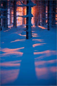 Winter Sunset, Bavaria, Germany