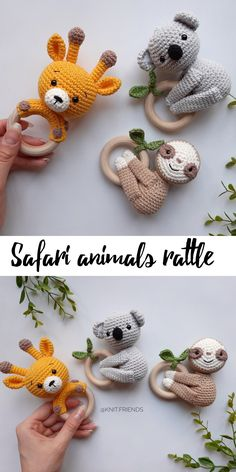 for mom from baby Cotton baby rattles Safari themed Baby Shower Baskets, Baby Shower Gifts, Baby Gifts, Crochet Toys Patterns, Stuffed Toys Patterns, Expecting Mom Gifts, Linen Closet Organization, How To Make Toys, Baby Rattle