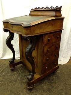 Antique Walnut Davenport Before Restoration · Antique FurnitureRestoration