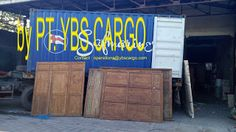 YBS Cargo, PT: Old Teakwood Panel & Door in Loading