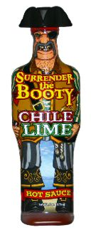 Chile and lime make this Surrender the Booty hot sauce great on beef, chicken, pork and fish.